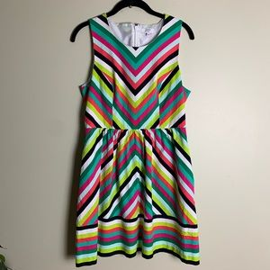 crown & ivy multicolored a line dress